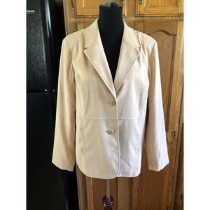 NWT Susan Graver Faux Brushed Suede Blazer Large